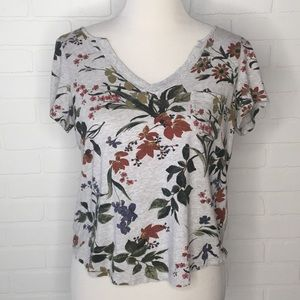 Anthropologie Maeve floral tee S